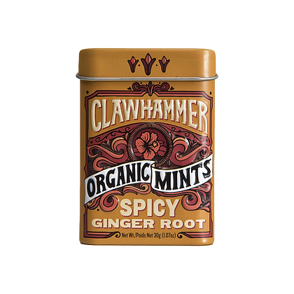 Clawhammer Organic Mints Spicy Ginger Root 30g