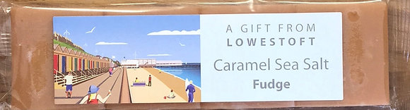 Beaches & Cream Lowestoft - Caramel Sea Salt Fudge 100g