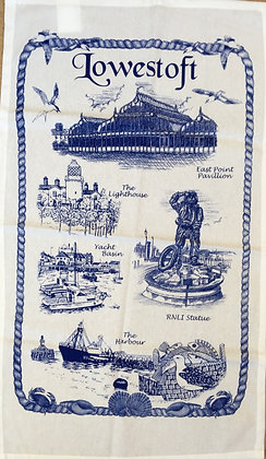 Lowestoft Landmarks Tea Towel
