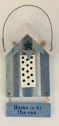 """""""Home is by the sea"""" Beach Hut Sign"""