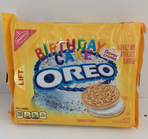 Oreo Golden Birthday Cake Flavour 432g Beaches and Cream Home of
