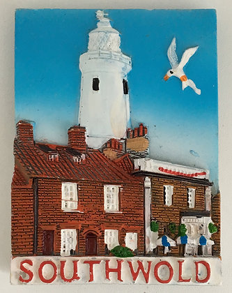 Southwold Lighthouse and Buildings Fridge Magnet
