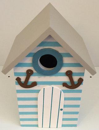 Large Beach Hut Ornament (Anchors)