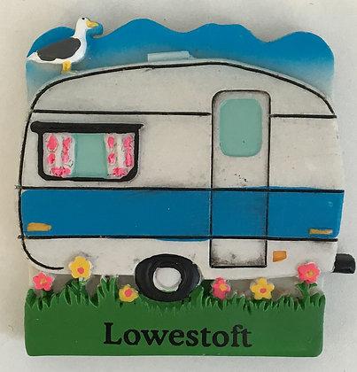 Lowestoft Caravan Fridge Magnet