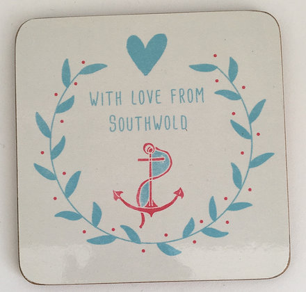 """With Love From Southwold"" Coaster (Anchor)"