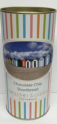 Beaches & Cream Southwold - Chocolate Chip Shortbread Tin 200g