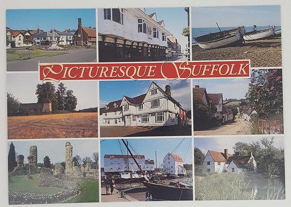 """Picturesque Suffolk"" Postcard"