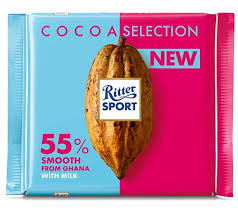 Ritter Sport Cocoa Selection - 55% Smooth with Cocoa Mass from Ghana 100g