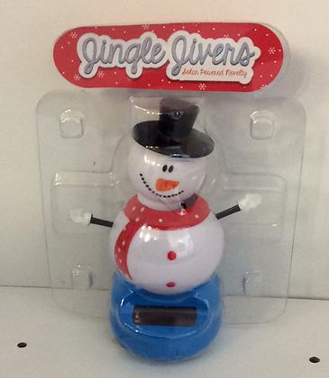 Snowman Solar Figure