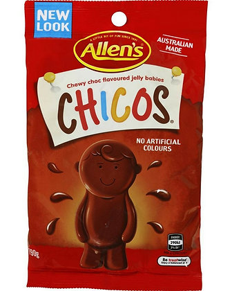Allen's Chicos Chewy Choc Flavoured Jelly Babies 190g