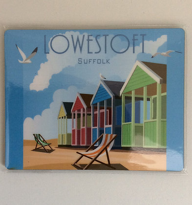 Lowestoft Beach Huts Coaster