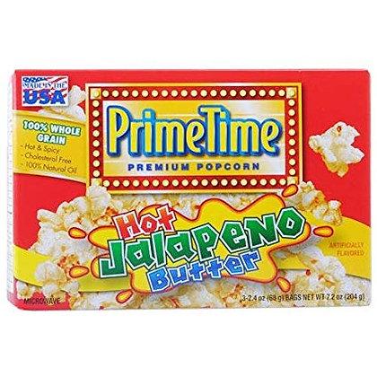Prime Time Hot Jalapeño Butter Popcorn 204g