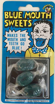 Blue Mouth Sweets Joke Sweets