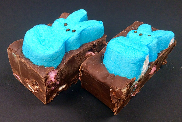 Sinful Chocolate and Marshmallow Homemade Fudge with Peeps Bunny - Approx. 100g