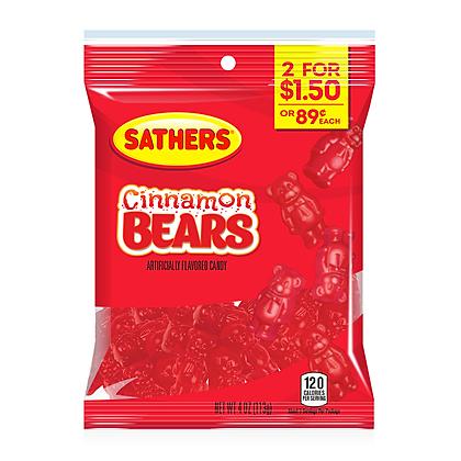Sathers Cinnamon Bears 113g