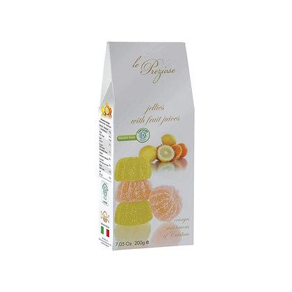 Le Prezoise Jellies with Fruit Juices Oranges & Lemons of Calabria (Vegan) 200g