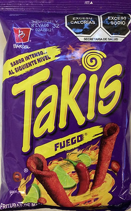 Takis Fuego 68g Hot Chili Pepper & lime Tortilla Chips