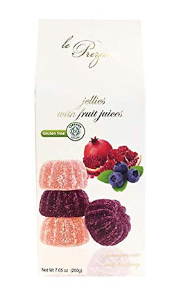 Le Prezoise Jellies with Fruit Juices Pomegranate & Blueberry (Vegan) 200g