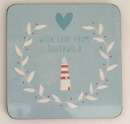 """With Love From Southwold"" Coaster (Lighthouse)"