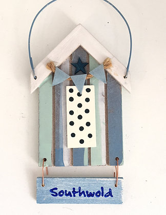Southwold Beach Hut Sign