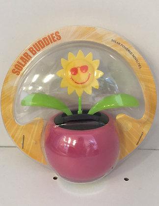 Sun Flower Solar Figure Pink