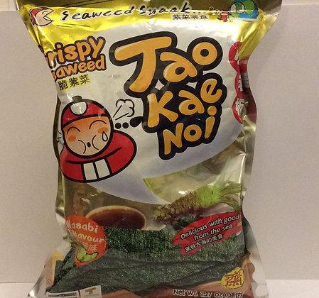 Taokaenoi Crispy Seaweed Sheets - Wasabi Flavour 36g