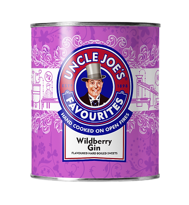 Uncle Joe's Favourites - Wildberry Gin Hard Boiled Sweets 120g