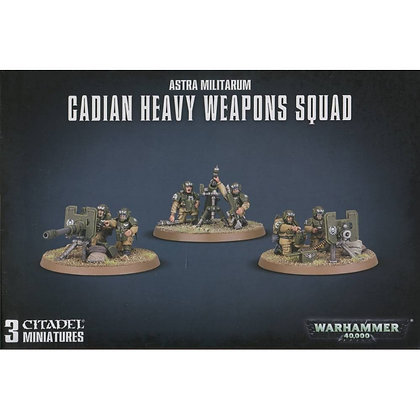 Warhammer 40K Astra Militarum Cadian Heacy Weapons Squad