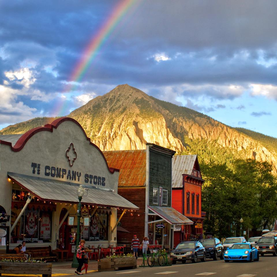 Crested Butte Colorado downtown rainbow