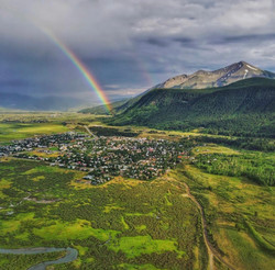 Crested Butte Colorado drone rainbow