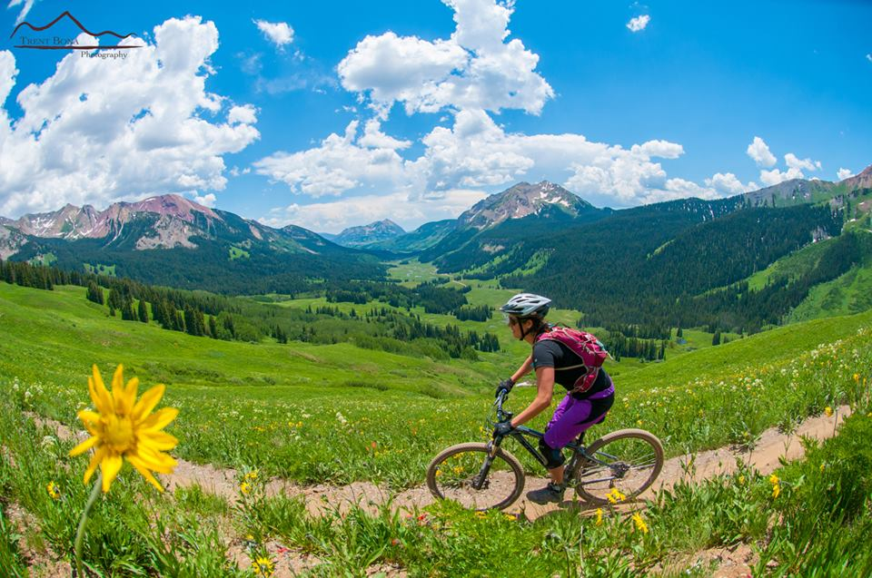 Crested Butte Colorado man biking