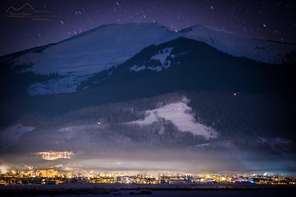Crested Butte Colorado night drone
