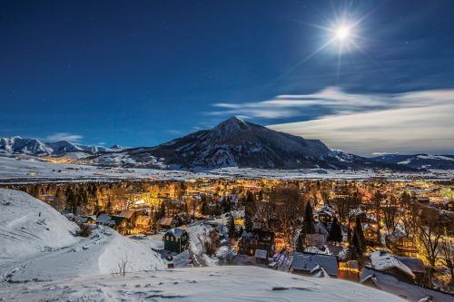 Crested Butte Colorado drone winter