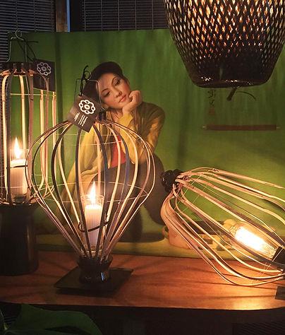 Lampe en bambou, Original artisanat Vietnamien, Bamboo Lamp, lampe de Restaurant, lampe de bare