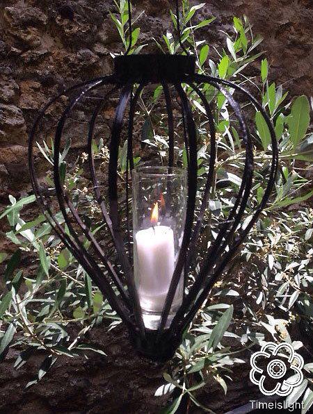 Lanterne HIRONDELLE LIÊU noir - Ø 30 cm x H 46 cm - Timeislight