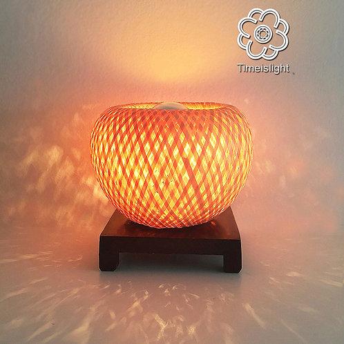 Lampe de chevet EGG or EYE + Variateur ≈ Ø 13 cm x H 12,5 cm - Timeislight