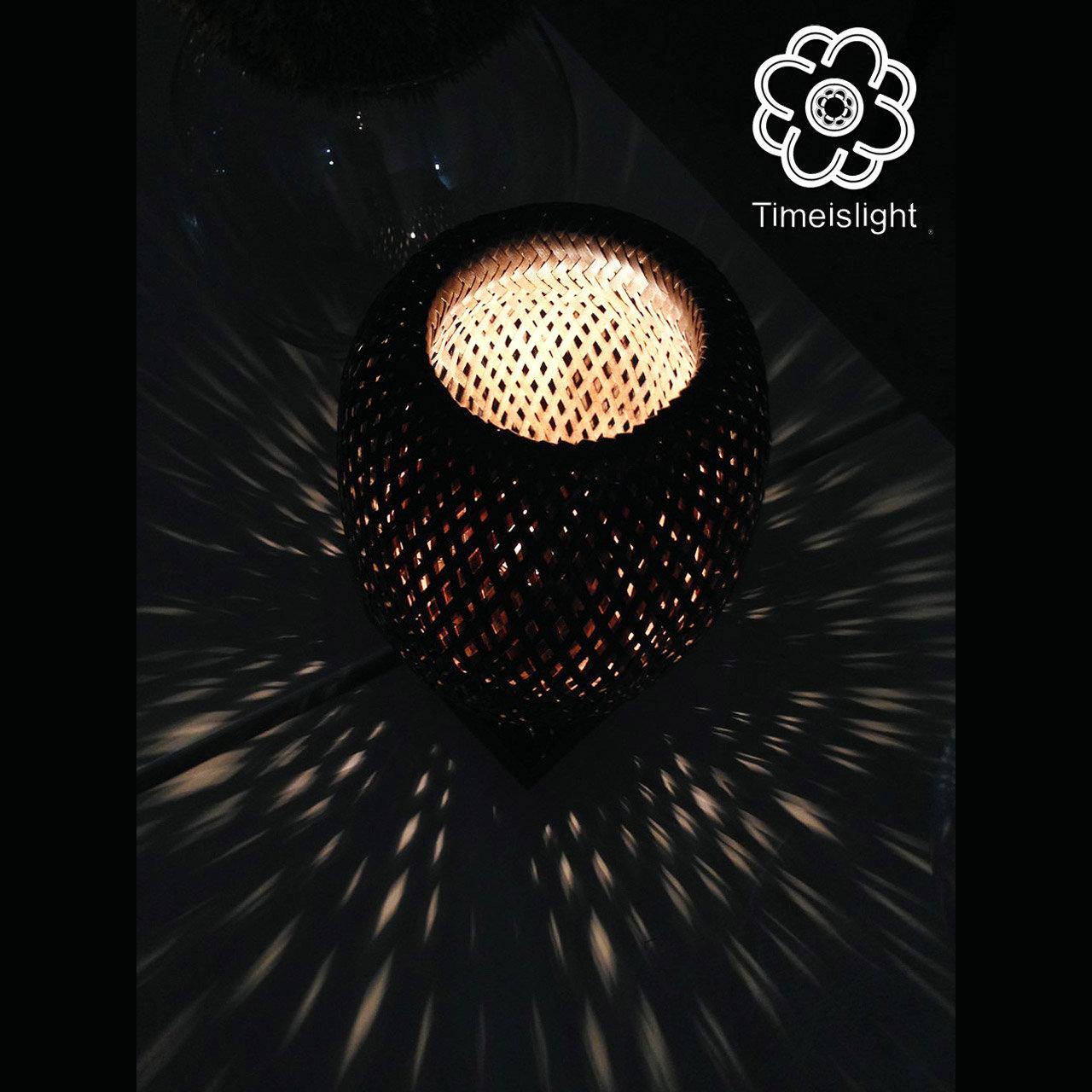 Mì Ø 15 H Lampe 23 Cm 5 Bambou NoirVariateur Chevet Laqué X Bánh En De thxQdCBsr