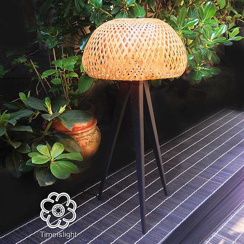 Lampe tripode en bambou MÉDUSE - Ø 30 cm x H 63 cm - Timeislight
