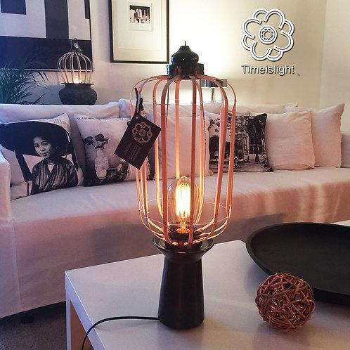 Lampe sur socle en grès noir HIRONDELLE LAN - Ø 21 cm x H 57 cm - Timeislight