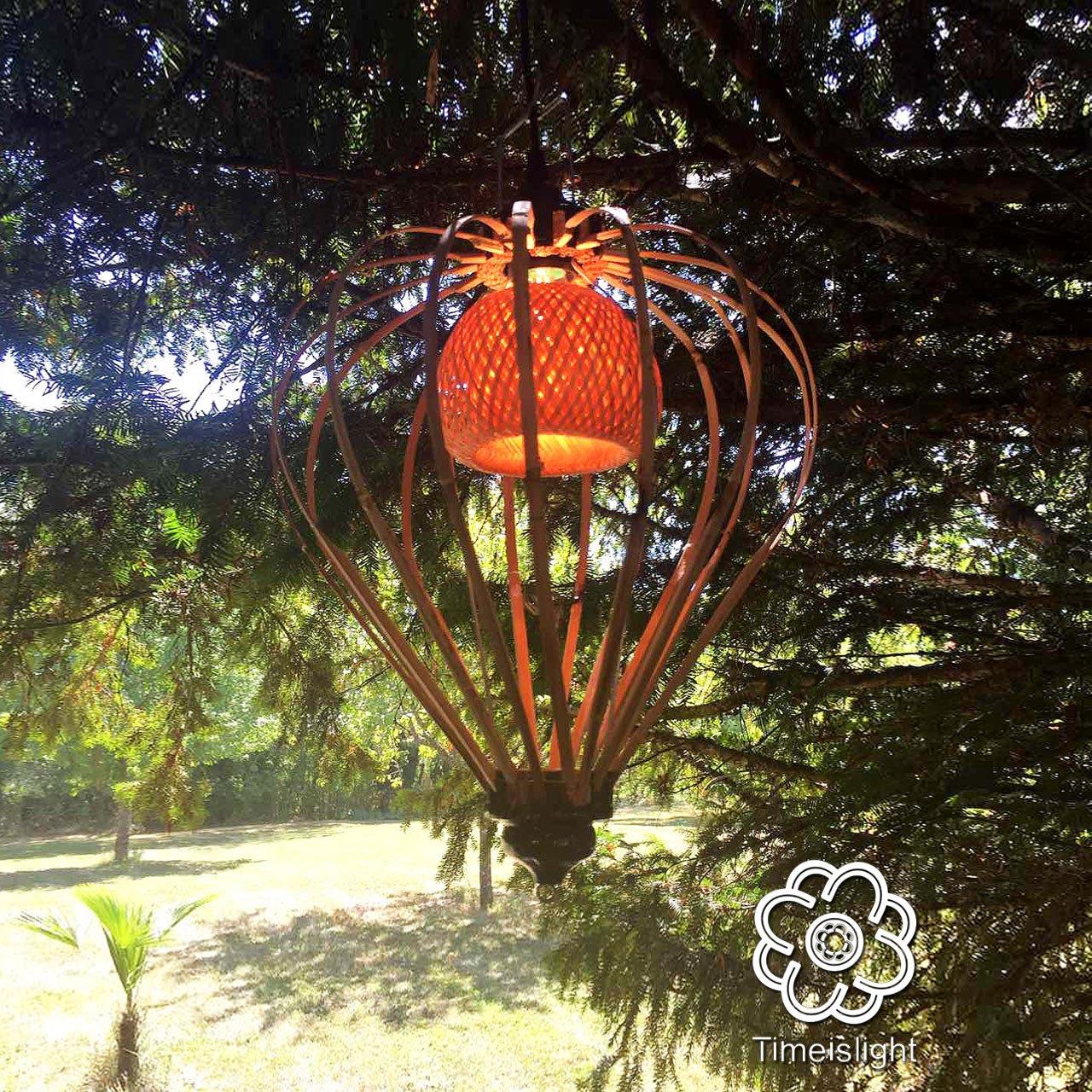 Suspension PHYSALIS place 30 cm x H 45 cm \u00d8 Timeislight bamboo