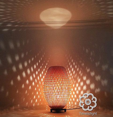 Lampe en bambou COCOON + variateur - Ø 28 cm x H 45,5 cm - Timeislight