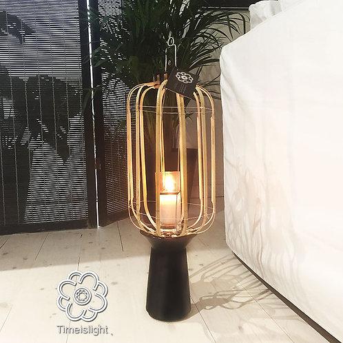 Bougeoir HIRONDELLE LAN sur socle en grès noir - Ø 23 cm x H 59 cm - Timeislight
