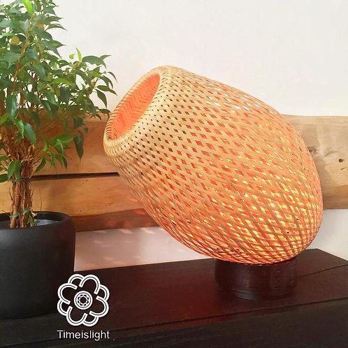 Lampe en bambou orientable COCOON + variateur - Ø 28 cm x H 45 cm à 35 cm