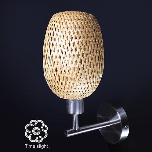 Applique murale - Bambou tressé double peau - H 30 cm - Timei
