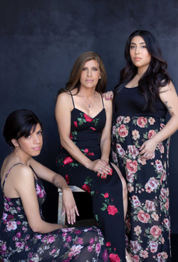 Modern glam portraits for families