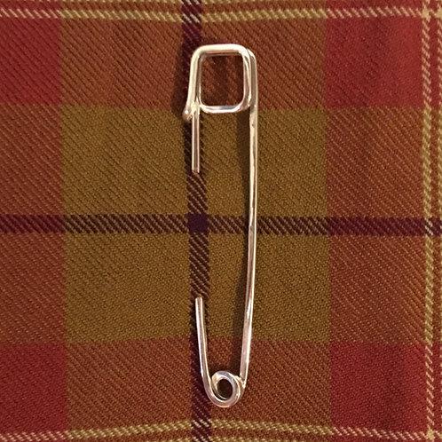 """Silver Kilt Pin - """"Square"""""""
