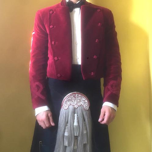 Kilt Jacket Velvet - Grosgrain