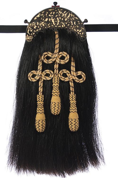 Scroll and Plum Knots - Black