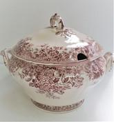 Zuppiera antica in ceramica smaltata