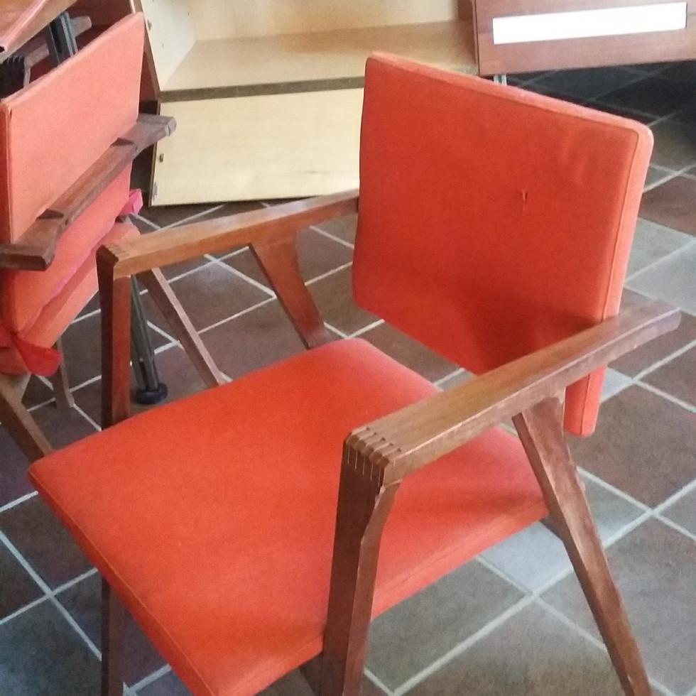 Stato originario poltrona in legno Franco Albini